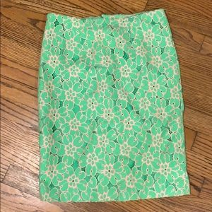 Green & pink lily skirt